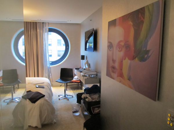 Our hotel room in New York; photo by NineShift
