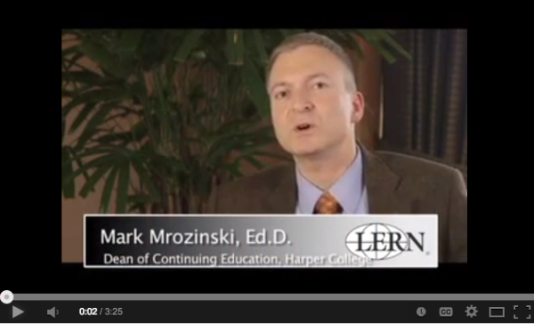 Mark Mrozinski, Dean of Continuing Education and Business Outreach at Harper College, discusses how mentoring helps improve continuing education and lifelong learning programs.