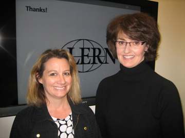 PHOTO: Amy de Lourenco and Debbie Sagen from Pikes Peak Community College.